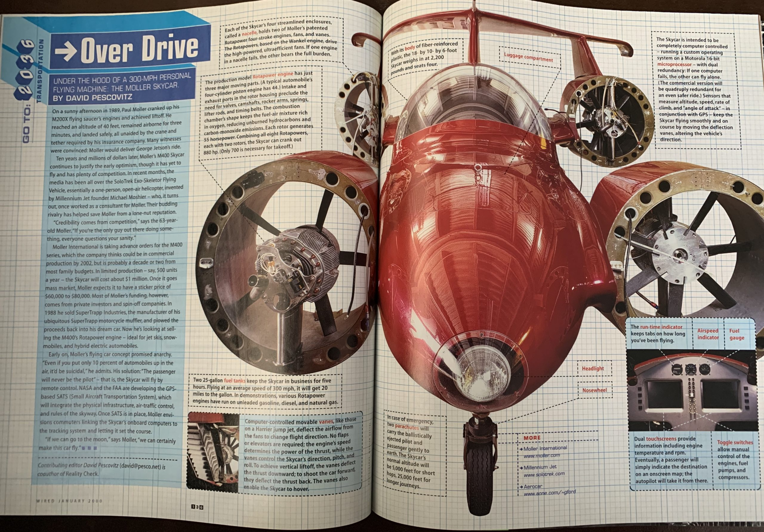 Flying cars article and image